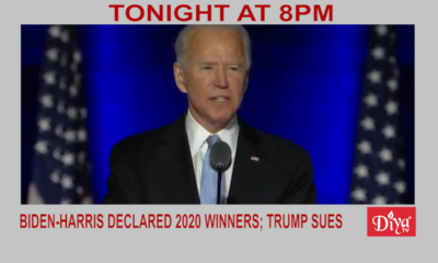 Biden-Harris declared 2020 winners; Trump sues states | Diya TV News