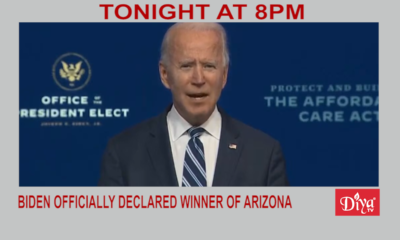 Biden officially declared winner of Arizona | Diya TV News