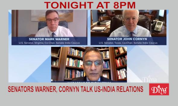Senators Warner, Cornyn talk US-India relations to USIBC | Diya TV News