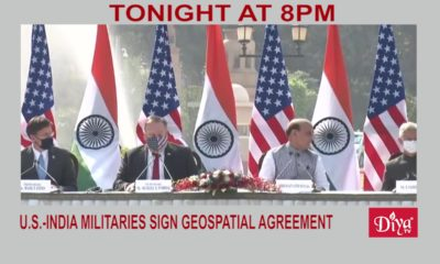 U.S.-India militaries sign geospatial agreement | Diya TV News