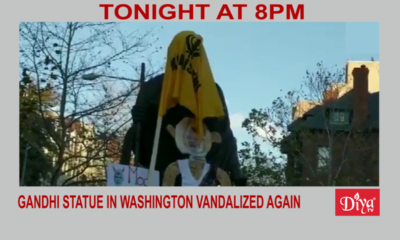 Gandhi statue in Washington vandalized again | Diya TV News
