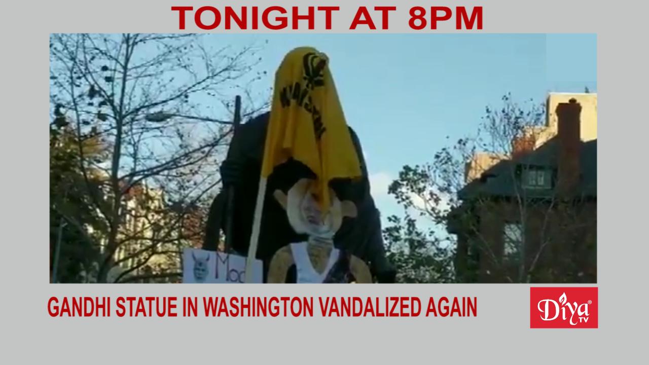 Gandhi statue in Washington vandalized again   Diya TV News