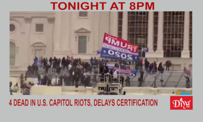 4 Dead In U.S. Capitol Riots, Delays Election Certification | Diya TV News