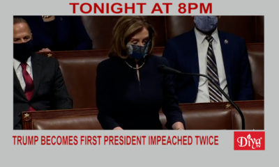 Trump Becomes First U.S. President To Be Impeached Twice | Diya TV News