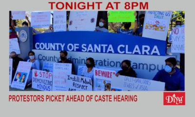 Protestors Picket Santa Clara Co. Ahead Of Caste Hearing | Diya TV News