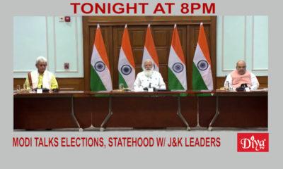 Modi talks elections, statehood w/ Jammu & Kashmir leaders | Diya TV News
