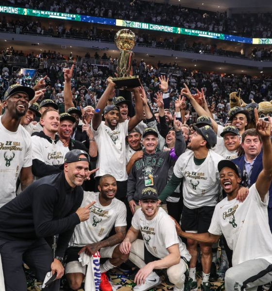 The Bucks win their first NBA championship in 50 years.