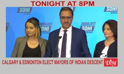 Calgary & Edmonton elect mayors of Indian descent | Diya TV News